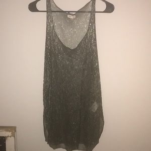 Urban outfitters sparkly sheer tank
